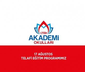 17 Ağustos Telafi Eğitim Programımız