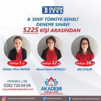 İşleyen Zeka Türkiye Geneli Deneme Sınavı