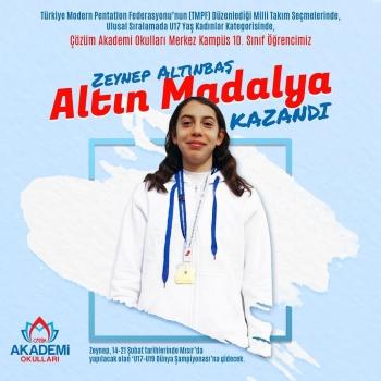 Çözüm Akademi Okulları Merkez Kampüs Öğrencimiz Zeynep'ten Büyük Başarı