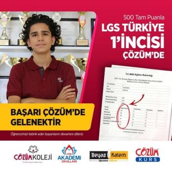 2021 LGS'de Türkiye 1'inciliği ÇÖZÜM'de!