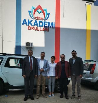 Genel Koordinatörlerimiz Sayın Konyalıgil ve Sayın Aktacir'den İzmir Bayraklı Akademi Okulu'na Ziyaret