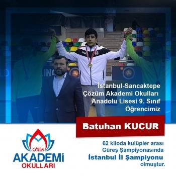 Öğrencimiz Batuhan, Güreş Şampiyonasında İstanbul İl 1.'si!