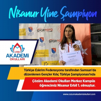 Nisanur Erbil Yine Şampiyon!